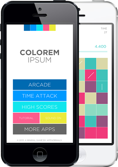 Colorem Ipsum, a colorful addictive puzzle game by Appnormals